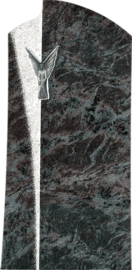 Klassischer Grabstein aus Orion mit einem Engelrelief