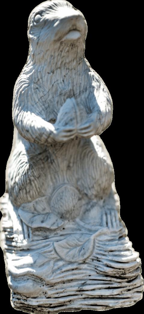Marmorskulptur in Form eines Murmeltiers