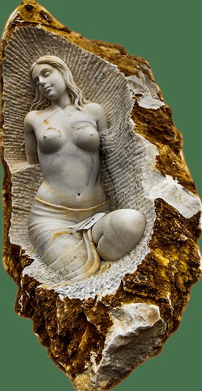 Skulptur Frauenakt aus Marmor