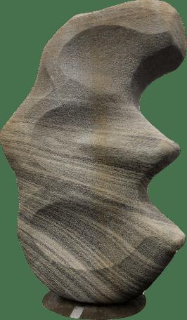Moderne Steinskulptur aus Naturstein